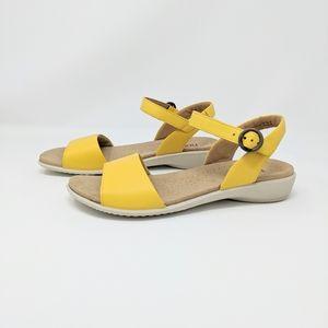 Hotter Women's Tropic Sandals Yellow Strap Sz 8.5